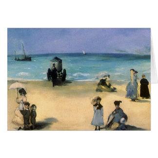 Playa en Boulogne por Manet impresionismo del vin Felicitaciones