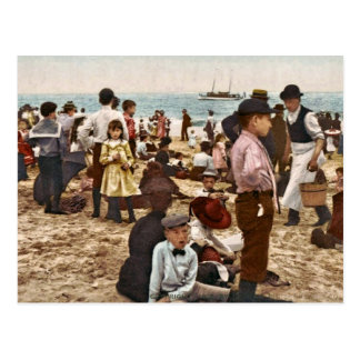 Playa en Coney Island, vintage 1902 de Nueva York Tarjeta Postal