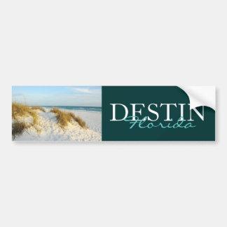 Playa en Destin pegatina para el parachoques de l Etiqueta De Parachoque