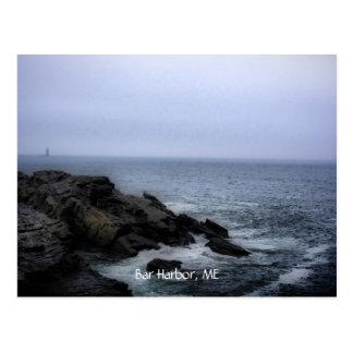 Playa en el Acadia, puerto de la barra, YO Tarjetas Postales