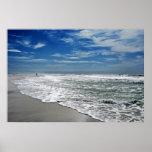 playa en el amanecer poster