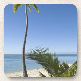 Playa en el continente Aitutaki, islas de cocinero Posavasos De Bebidas