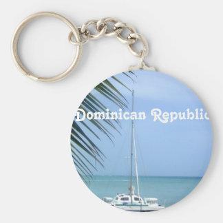 Playa en el Dominican Llavero Redondo Tipo Pin
