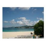 Playa en el hotel magnífico de la playa, Grenada Postal