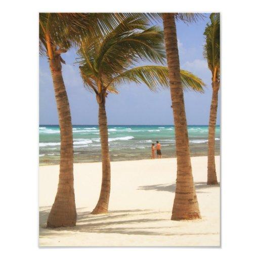 Playa en el maya de Riviera Fotografía