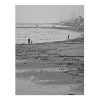 Playa en Galveston Tarjeta Postal