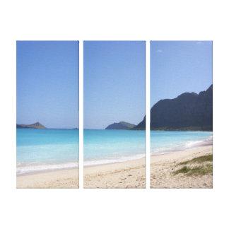 Playa en Hawaii Impresiones En Lona Estiradas