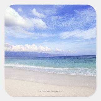 Playa en Hawaii Pegatina Cuadrada