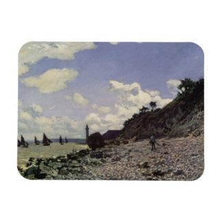 Playa en Honfleur, 1864 (aceite en lona) Imanes