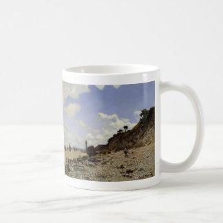Playa en Honfleur - Claude Monet Tazas De Café