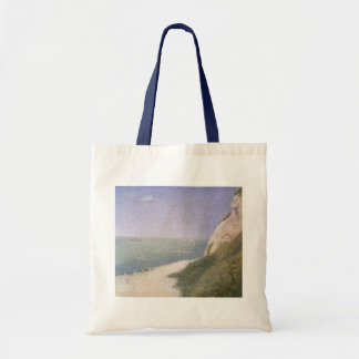Playa en Honfleur por Seurat, Pointillism del Bolsa Tela Barata