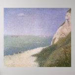 Playa en Honfleur por Seurat, Pointillism del Impresiones