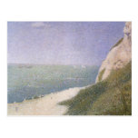 Playa en Honfleur por Seurat, Pointillism del Tarjeta Postal