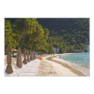 Playa en la bahía del jardín del bastón, isla de T Fotografías