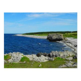 Playa en la costa de Terranova Canadá Postal