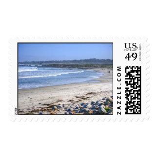 Playa en la impulsión sellos
