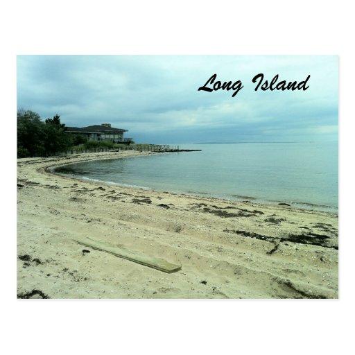 Playa en la isla del refugio, NY Postal