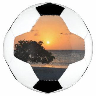 Playa en la puesta del sol