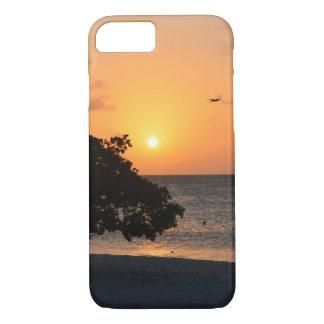 Playa en la puesta del sol funda iPhone 7