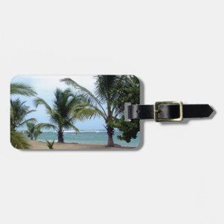 Playa en la República Dominicana Etiqueta De Maleta