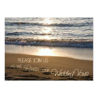 Playa en las invitaciones de la renovación del invitación personalizada