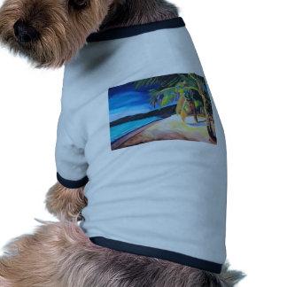 Playa en las Islas Vírgenes de St Thomas los Camisa De Mascota