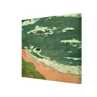 Playa en Le Pouldu 1889 Impresión De Lienzo