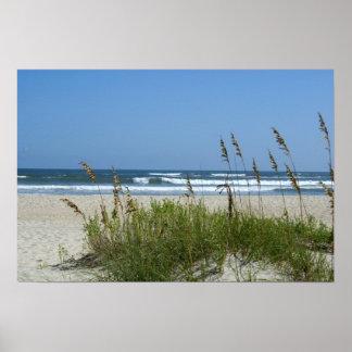 Playa en Ocracoke Póster