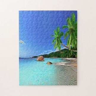Playa en paraíso rompecabezas con fotos