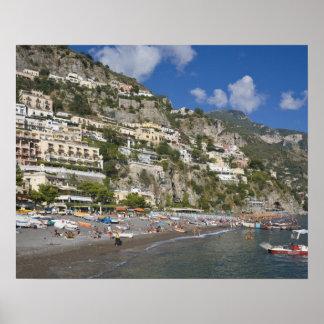 Playa en Positano, Campania, Italia Posters