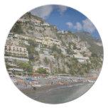 Playa en Positano, Campania, Italia Plato De Cena
