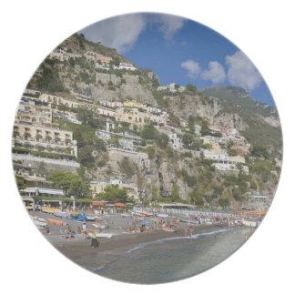Playa en Positano, Campania, Italia Platos Para Fiestas