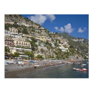 Playa en Positano, Campania, Italia Tarjetas Postales