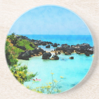 Playa en San Jorge Bermudas Posavasos Personalizados