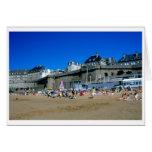 Playa en St Malo, Francia Tarjeta De Felicitación