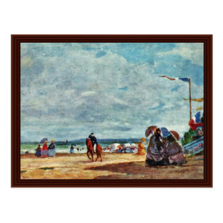 Playa en Trouville de Boudin Eugène Tarjetas Postales