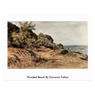 Playa enselvada de Giovanni Fattori Postal