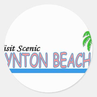 Playa escénica de Boynton de la visita Pegatina Redonda