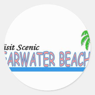 Playa escénica de Clearwater de la visita Etiqueta Redonda