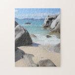 Playa escénica en los baños en la Virgen Gorda, BV Rompecabezas Con Fotos