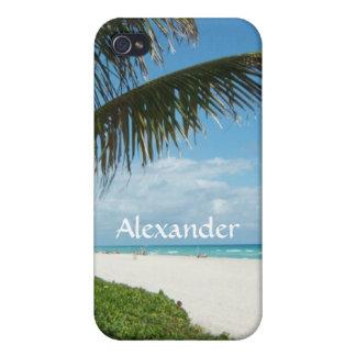 Playa escénica, rama lateral de la palma iPhone 4/4S carcasa