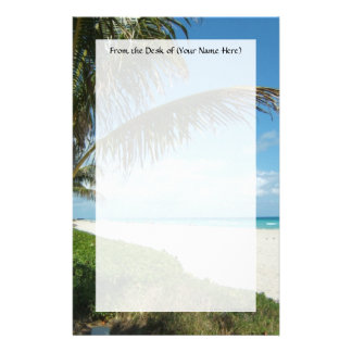 Playa escénica, rama lateral de la palma papeleria
