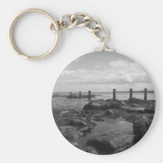 Playa escocesa llavero redondo tipo pin