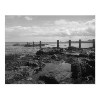 Playa escocesa tarjeta postal