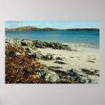 playa Escocia del iona Poster