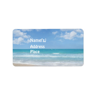 Playa Etiquetas De Dirección