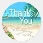 Playa exótica (pida que ponga sus nombres en etiquetas redondas