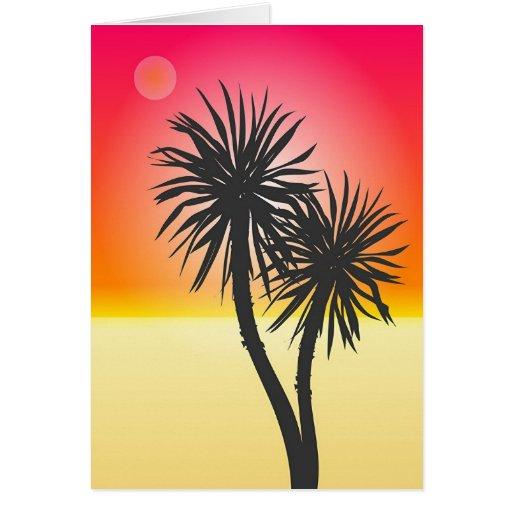 Playa exótica tarjeta de felicitación