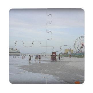 Playa famosa posavasos de puzzle