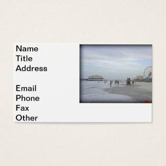 Playa famosa tarjetas de visita